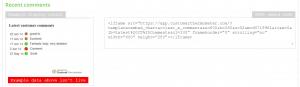 Feedback widget integration code