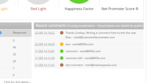 Customer comment dashboard