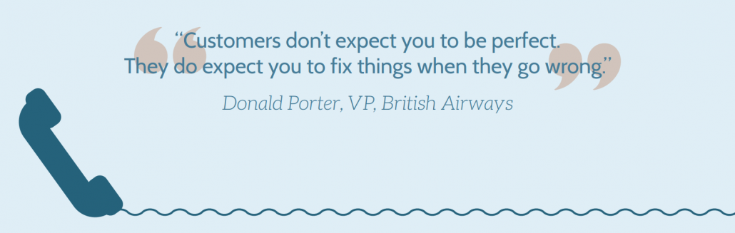 Customer experience thinking Donald Porter quote