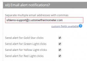 Email alerts setup