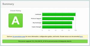 Customer Thermometer SSL server test