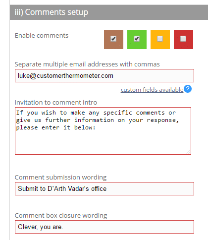Enable comments by ratings page