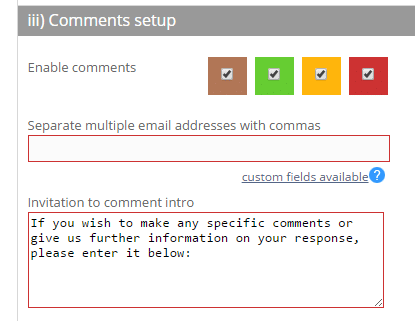 Enable comments per Landing page