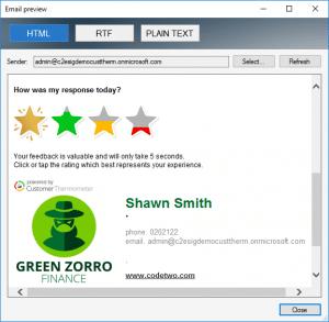 CodeTwo email signature survey setup