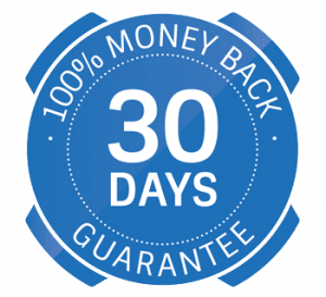 100% money back 30 days guarantee