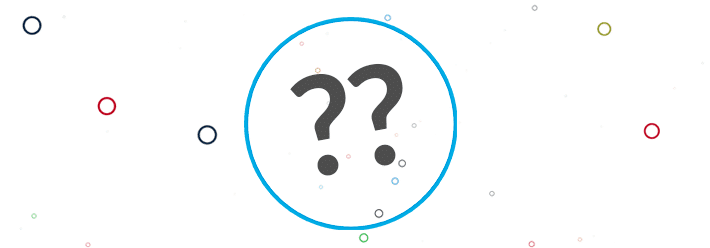 Two question marks in a circle
