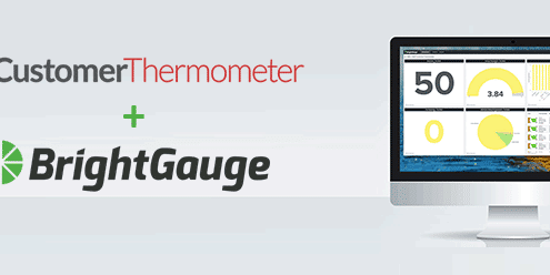 brightgauge and customer thermometer csat surveys