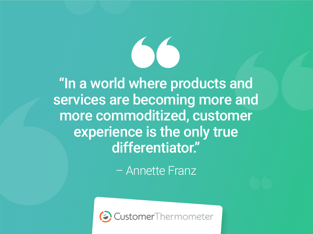 annette franz customer thermometer CX Quotes