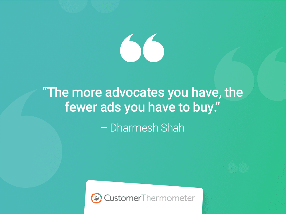 customer thermometer CX Quotes dharmesh shah ad marketing