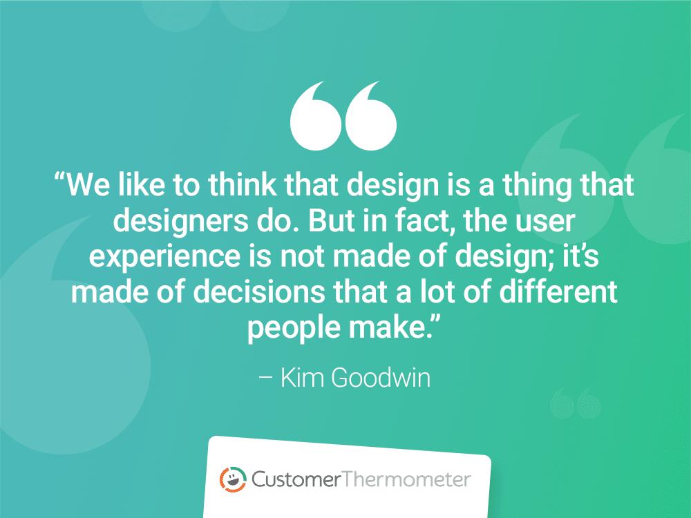 kim goodwin customer thermometer CX Quotes