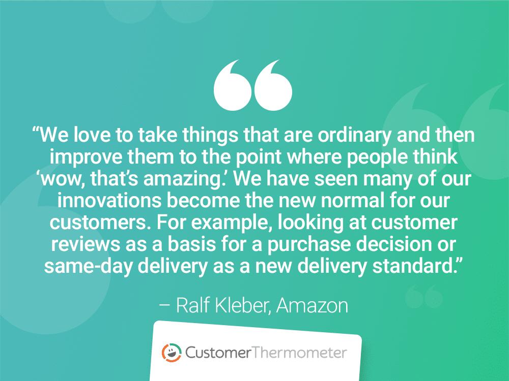 customer success quote ralf kleber amazon