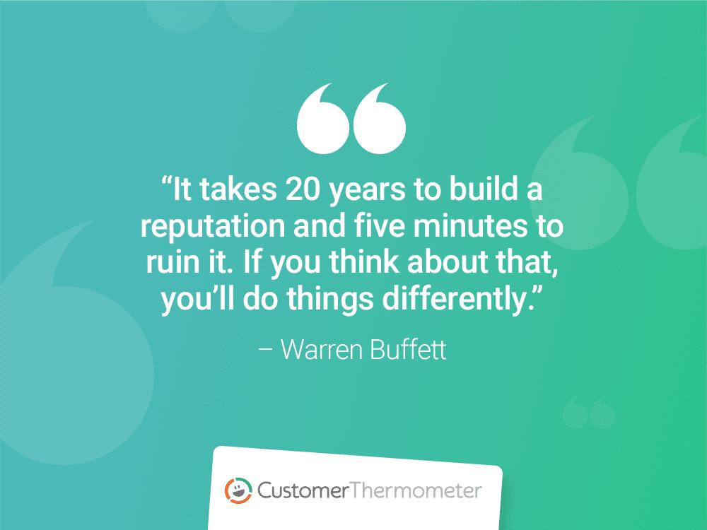 customer experience quotes warren buffett customer thermometer
