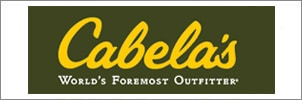 Cabelas worlds foremost outfitter logo