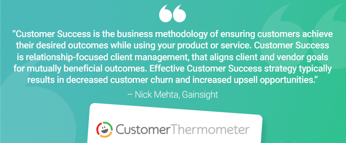 customer success definition customer thermometer