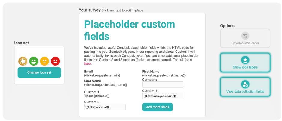 Customer Thermometer Survey in 60 Seconds_Placeholder custom fields