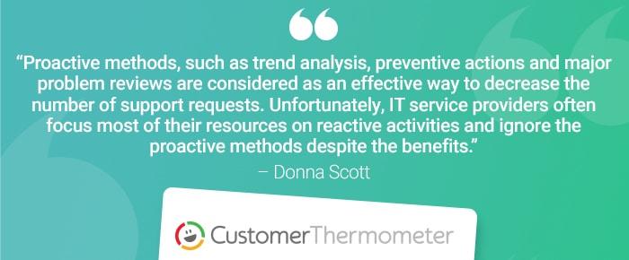 service desk customer thermometer quote donna scott