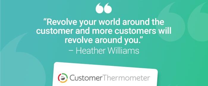 service desk customer thermometer quote heather williams