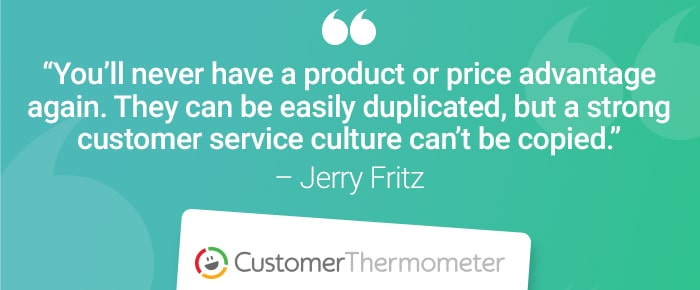 service desk customer thermometer quote jerry fritz