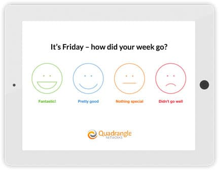 Employee Tablet survey - its friday how did your week go with icons