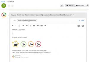 Freshdesk 1 click CSAT survey alternative example