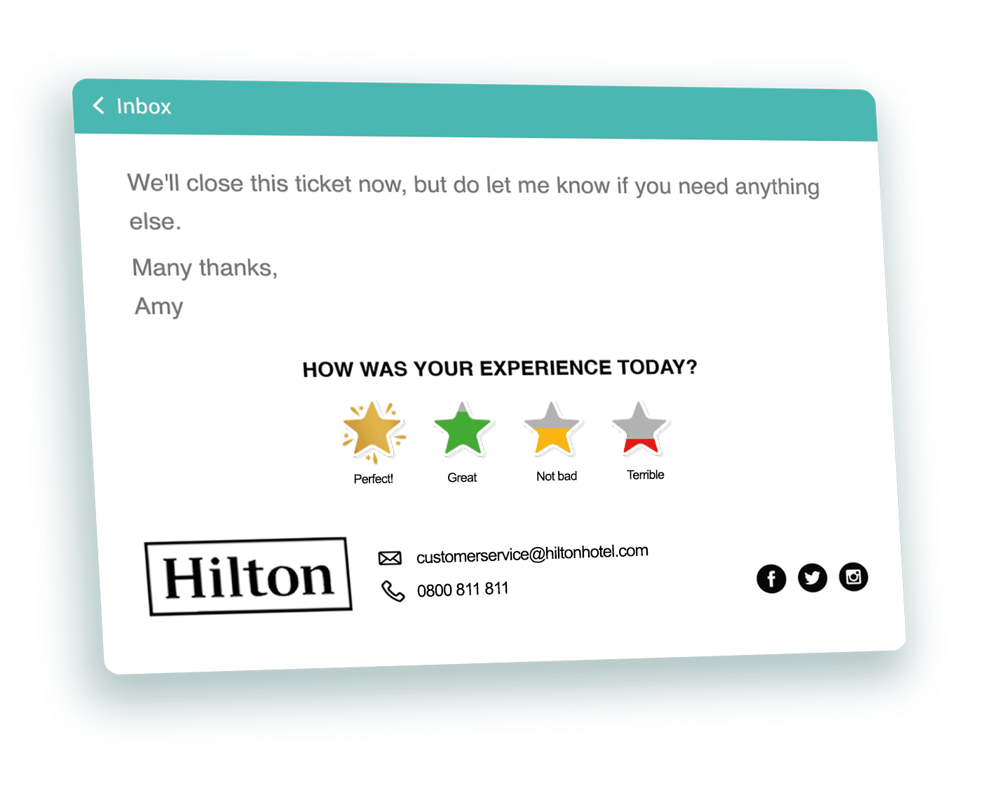 Hotel Guest Survey Feedback Ticket Icons One Click