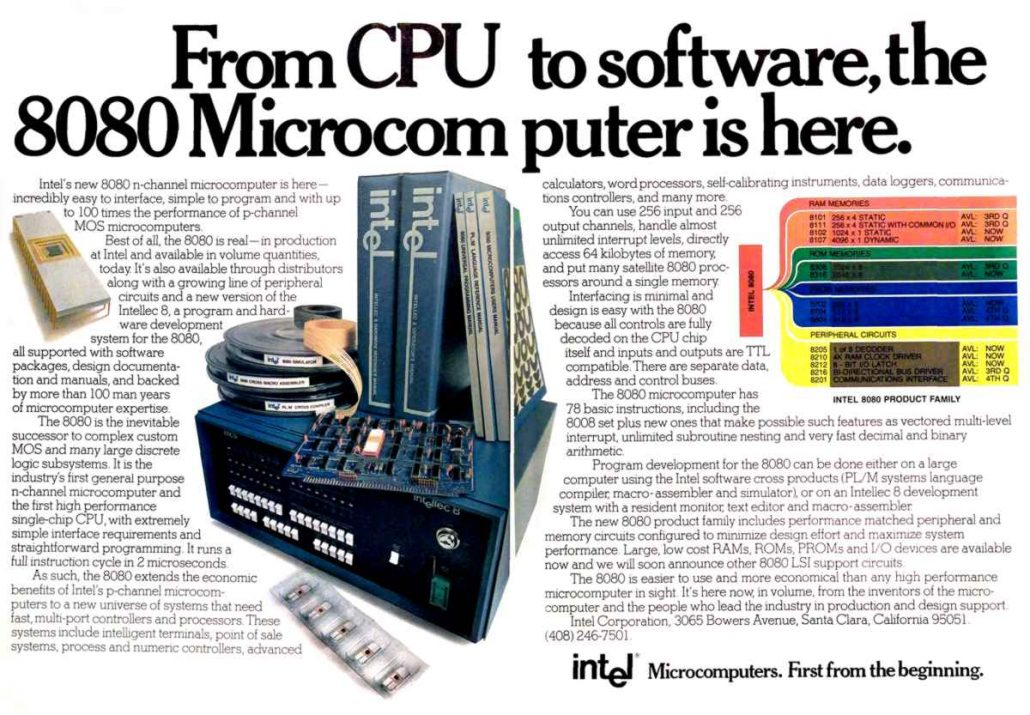 early Intel advertisement