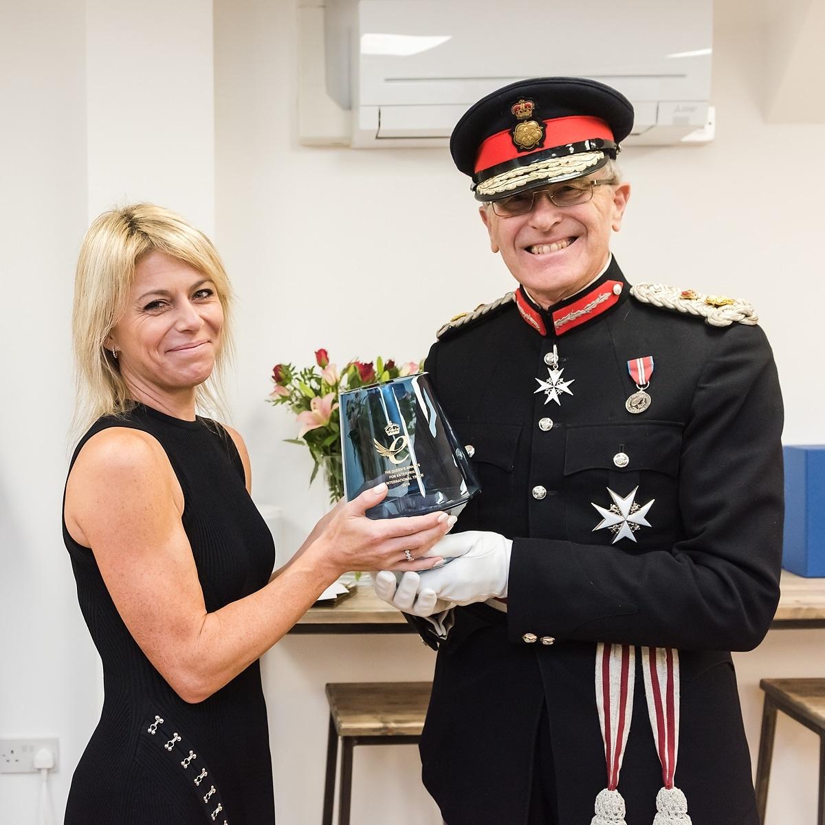 Customer Thermometer queen's award reception lindsay willott