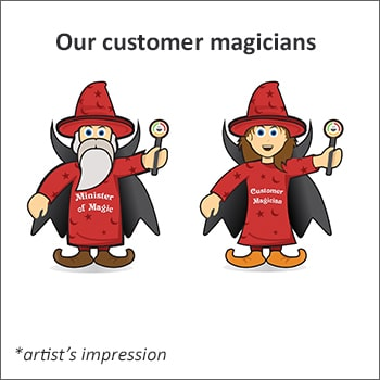 Our customer support service magicians