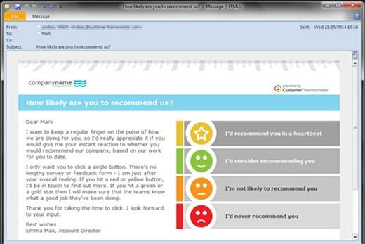 Net Promoter Score survey email