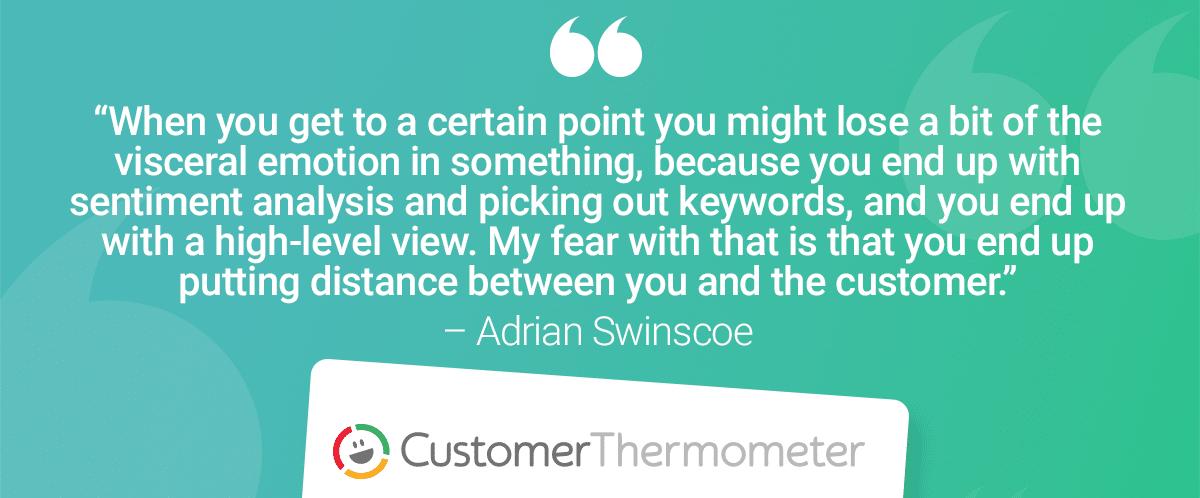Adrian Swinscoe NPS CSAT quote