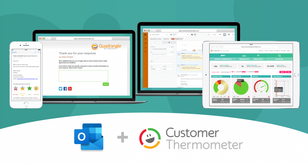 Outlook Multiscreen Customer Thermometer Integration