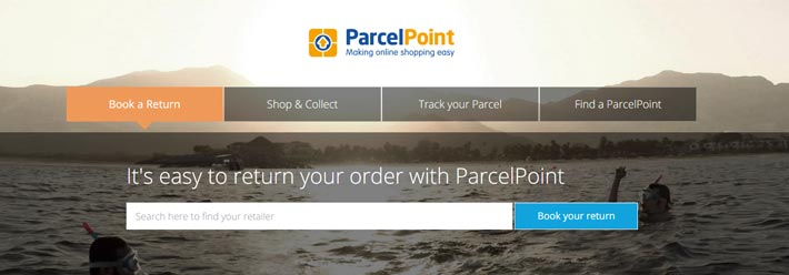 The ParcelPint website