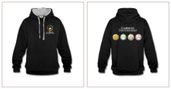 Customer Thermometer hoodies