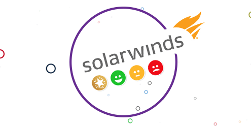 Solarwinds logo with Customer Thermometer icons