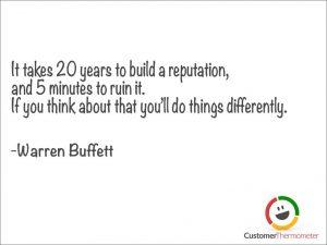 Warren Buffett customer service quote