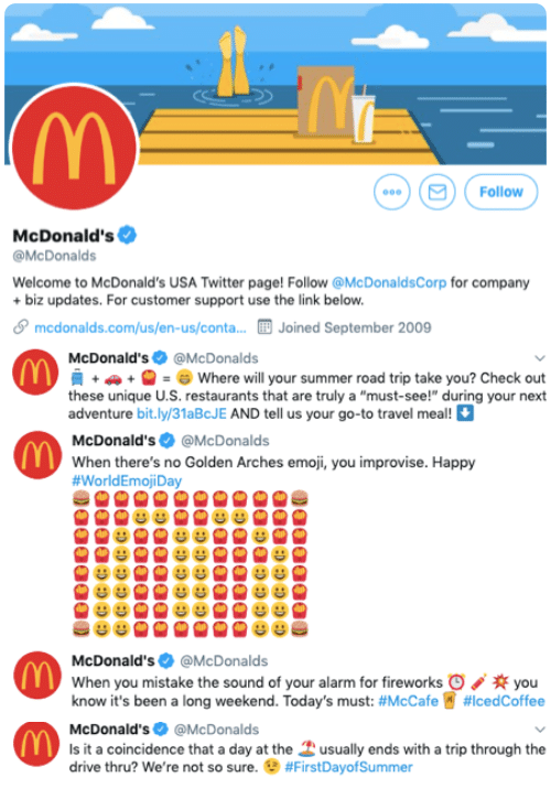 business use in emoji mcdonalds