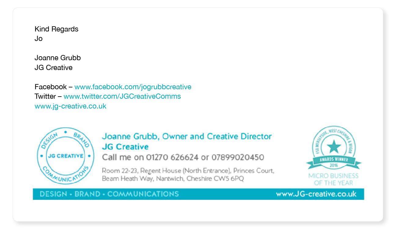 creative email signature example