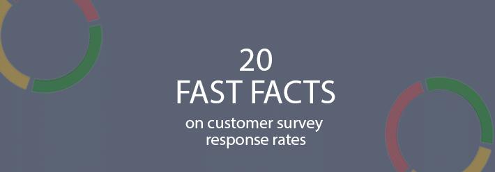 Customer survey response rate stats
