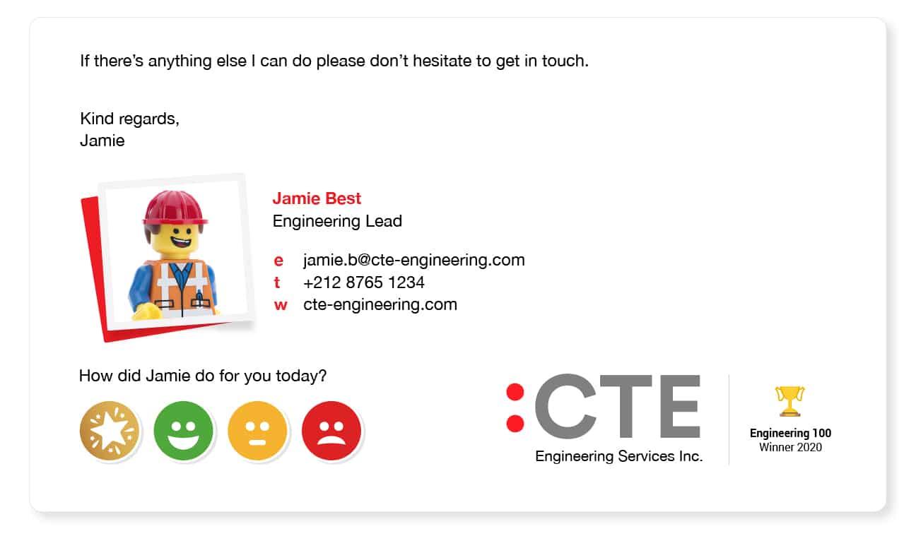 email signature idea for a company