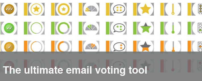 email voting tool buttons