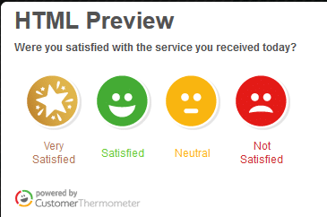 embedded survey html preview