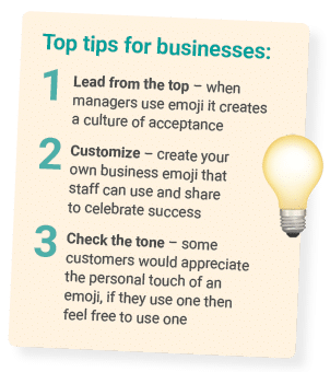 emoji use for business tips