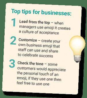 emoji use for business tips