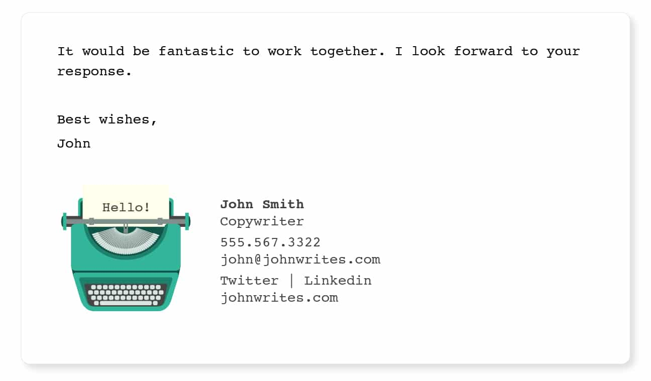 engaging email signatures long