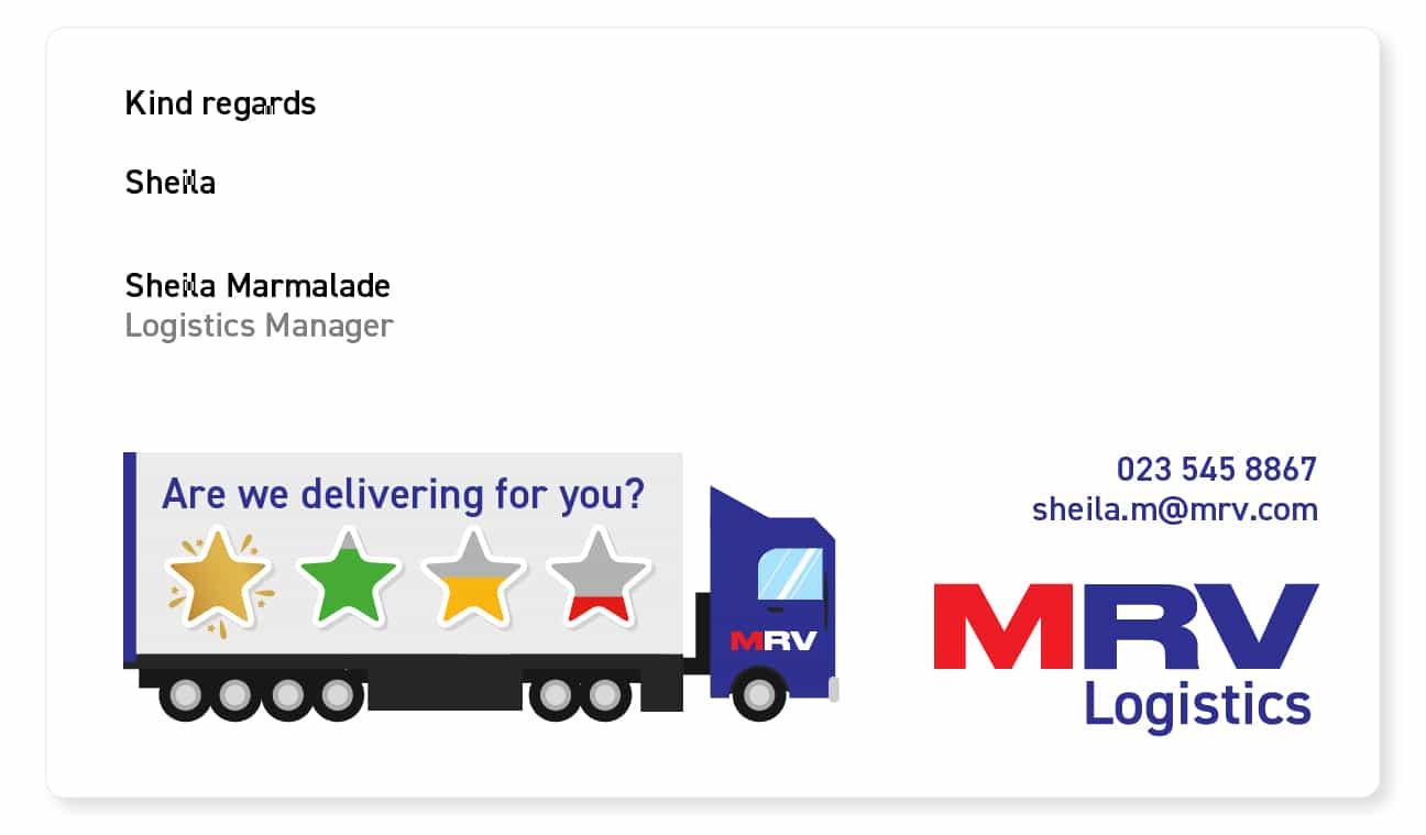 fun email signature example