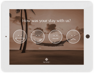 How was your stay with us survey icons