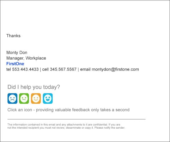 internal email signature example