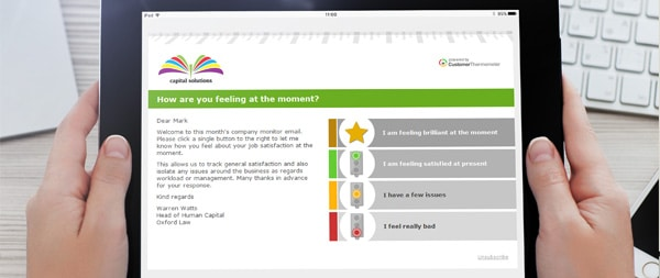Staff satisfaction survey example question