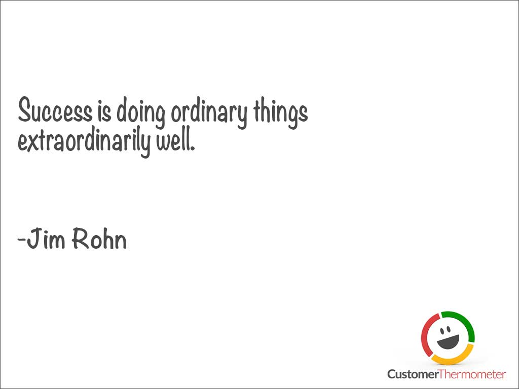 Jim Rohn customer service quote