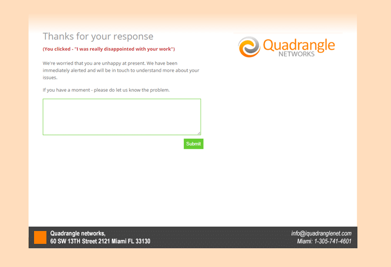 SolarWinds MSP Manager ticket surveys - Customer Thermometer